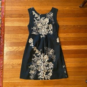 J Crew Embroidered Dress, Size 2
